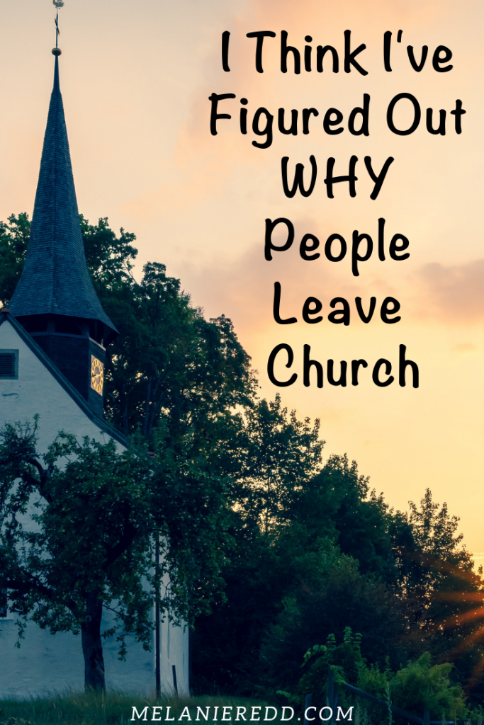 Where are the friends who used to pass us in the halls & sit near us in the pew? After much research, I think I've figured out why people leave church. #leavechurch #church