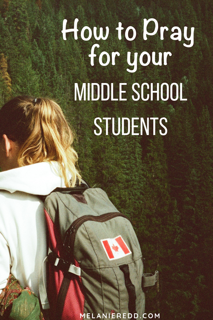 Middle school is not an easy time for boys and girls. Lots of stress, changes, crushes, challenges. For parents, you need support. One of the best ways to encourage your kids it to pray for them. Here are some tips, advice, and ideas for how to do that. #middleschool #middleschoolstudents #parenting #liveinlighbook