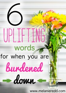 Are you carrying some heavy burdens today? Here are some wonderful quotes and verses from the Bible to assist you in laying down those burdens and having that feeling of heaviness lifted off of your back.