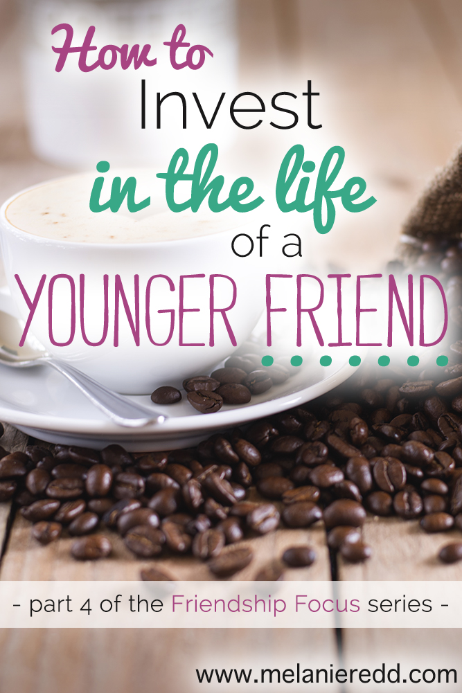 Would you like some ideas for how to invest in the lives of the younger friends God has placed around you? Would you like to mentor them without feeling strange or awkward? Here are some practical tips, suggestions, and ideas for women (and men) who'd like to make an impact on the lives of those around them.