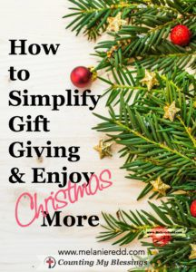 Choosing the perfect gifts at Christmas can be a real challenge. What should you give, how much should you spend, how many gifts should you give? This article gives you the most wonderful way to simplify your gift giving and enjoy Christmas more. Why not drop by for a visit?