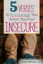 Five Verses to Encourage You When You Feel INSECURE