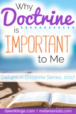 Why Doctrine is Important to Me – Dawn Klinge