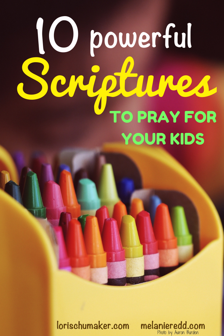 Prayer is powerful! And, praying for our children is a must. Here are 10 powerful scriptures to pray for your kids for maximum effectiveness. #prayer #prayingforkids @powerfulprayer
