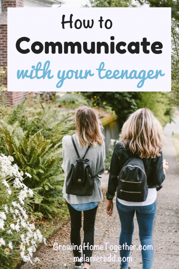It can be challenging to know how to talk to our kids--especially when they hit the teen years. Learn how to communicate with your teenager in this post. #teens #teenagers #parenting #communicate