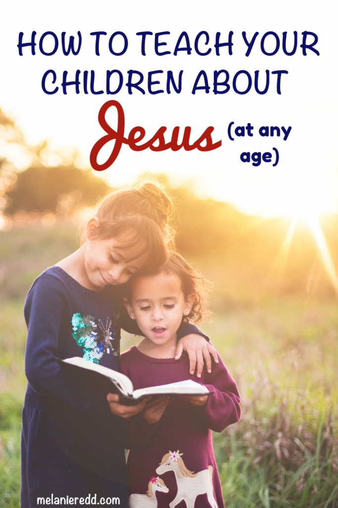 No matter your child's age, there are still ways that you can encourage spiritual growth. Discover how to More Intentionally Teach Your Children about Jesus #children #parenting #kidstoJesus #Jesus