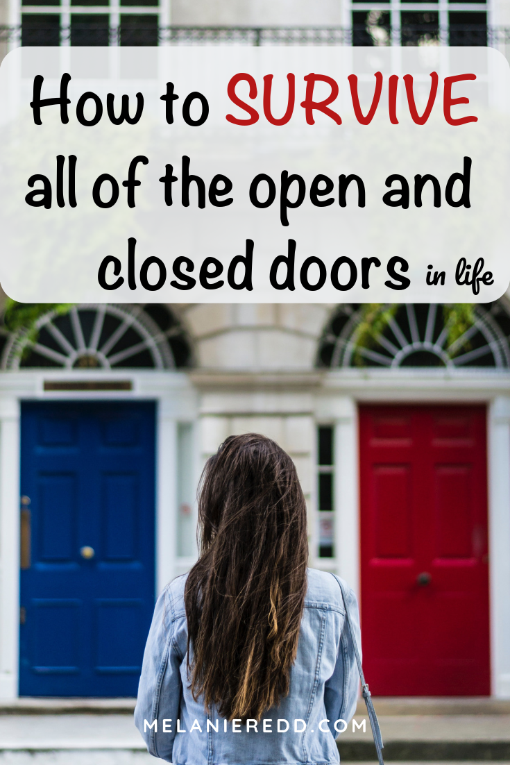 Doors open and doors close all the time. What can you and I do when facing these doors? Here is how to survive all of the open and closed doors in life. Doors open and doors close all the time. What can you and I do when facing these doors? Here is how to survive all of the open and closed doors in life. Discover quotes, Bible verse, and practical ideas that will you to navigate through life's open and closed doors--especially the closed ones! #doors #closeddoors #opendoors #liveinlightbook